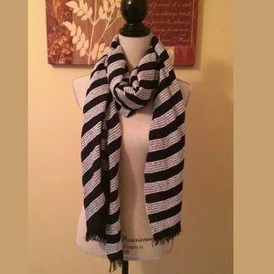 J.Crew striped fringe scarf